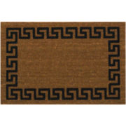 Koko Flocked Greek Key Coir Doormat