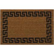 Koko Flocked Greek Key Coir Doormat