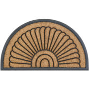 Koko Peacock Fan Coir Wedge Doormat