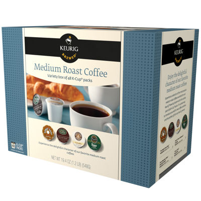 keurig kcups 48ct medium roast variety pack
