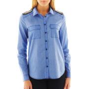 MNG by Mango® Embellished Shoulder Blouse