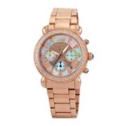 JBW Victory Womens Diamond-Accent Rose-Tone Stainless Steel Bracelet Watch JB-6210-160-G
