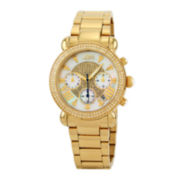 JBW Victory Womens Diamond-Accent Gold-Tone Stainless Steel Bracelet Watch JB-6210-160-I