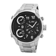 JBW The G4 Mens Diamond-Accent Stainless Steel Watch J6248B