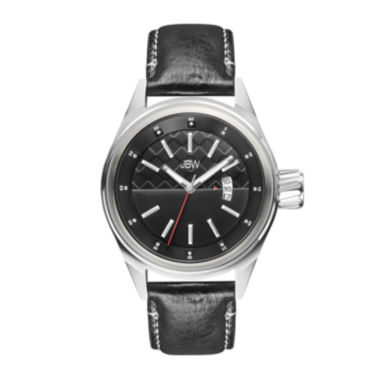 jcpenney.com | JBW Rook Mens Diamond-Accent Black Leather Strap Watch J6287H