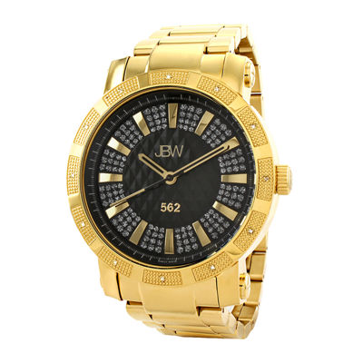 mens watches casual watches for men on jcpenney jbw 562 mens 1 8 ct t w diamond gold tone stainless steel watch