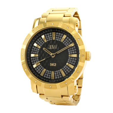 jcpenney.com | JBW 562 Mens 1/8 CT. T.W. Diamond Gold-Tone Stainless Steel Watch JB-6225-C