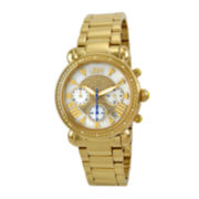 JBW Victory Womens 1/6 CT. T.W. Diamond Gold-Tone Stainless Steel Bracelet Watch JB-6210-A