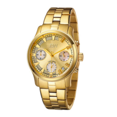 jcpenney.com | JBW Alessandra Womens 1/5 CT. T.W. Diamond Gold-Tone Stainless Steel Bracelet Watch JB-6217-E