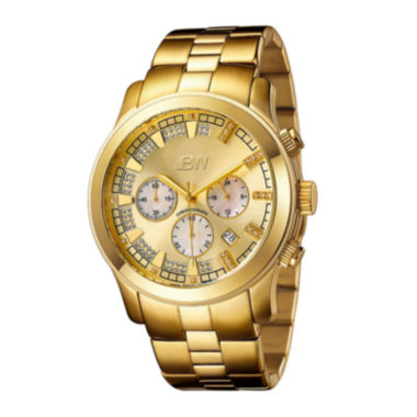 jcpenney.com | JBW Delano Mens 1/5 CT. T.W. Diamond Gold-Tone Stainless Steel Watch JB-6218-E