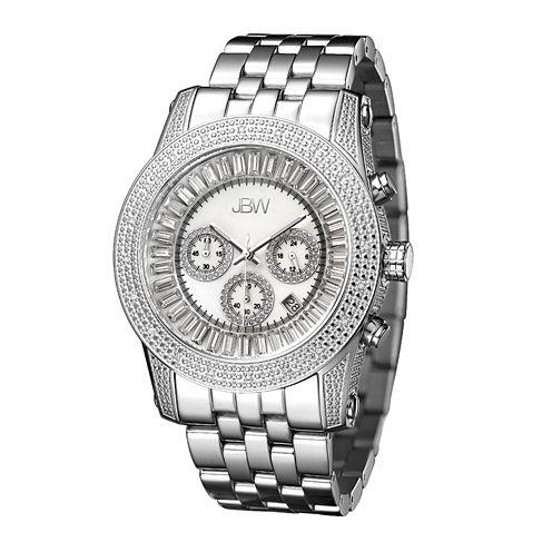 JBW Krypton Mens 1/3 CT. T.W. Diamond Stainless Steel Watch JB-6219-A