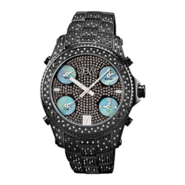 jcpenney.com | JBW Jet Setter Mens 3 CT. T.W. Diamond Black Stainless Steel Watch JB-6213-B