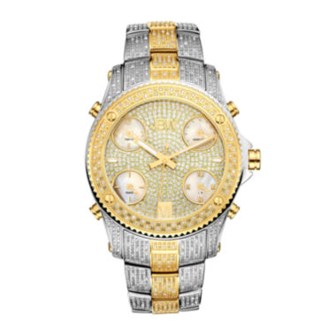 jcpenney.com | JBW Jet Setter Mens 3 CT. T.W. Diamond Two-Tone Stainless Steel Watch JB-6213-E