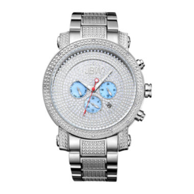 jcpenney.com | JBW Victor Mens Diamond- and Crystal-Accent Stainless Steel Watch JB-8102-B