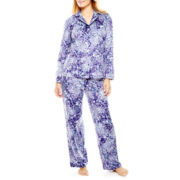 Earth Angels® Long-Sleeve Shirt and Pants Microfleece Pajama Set