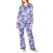 Earth Angels® Long-Sleeve Shirt and Pants Microfleece Pajama Set