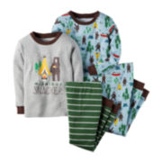 Carter's® 4-pc. Midnight Snacker Pajama Set - Toddler Boys 2t-5t