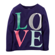 Carter's® Long-Sleeve Graphic Tee - Toddler Girls 2t-5t