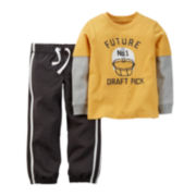 Carter's® Long-Sleeve Tee and Pants - Baby Boys newborn-24m
