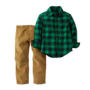 Carter's® Flannel Shirt and Corduroy Pants - Baby Boys newborn-24m