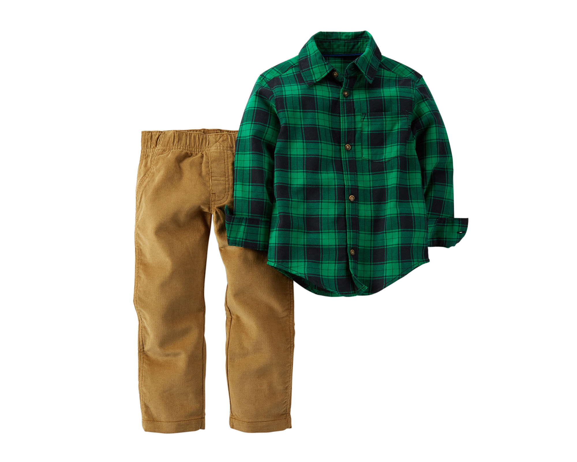 UPC 888510936534 - Carter's Flannel Shirt and Corduroy Pants ...