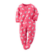 Carter's® Footed Dog-Print Bodysuit - Baby Girls 12m-24m