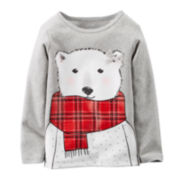 Carter's® Long-Sleeve Polar Bear Bow Tee - Baby Girls newborn-24m