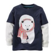 Carter's® Long-Sleeve Polar Bear Tee - Toddler Boys 2t-5t