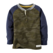 Carter's® Camo Henley - Preschool Boys 4-7