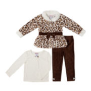 Little Lass Jacket, Top and Corduroy Pants Set - Preschool Girls 4-6x
