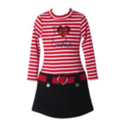 Pinky I Love Santa Marsha Dress - Preschool Girls 4-6x