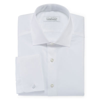 Collection By Michael Strahan Cotton Stretch Dress Shirt With French Cuffs by Collection