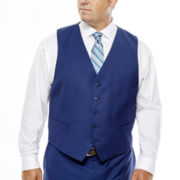 Collection by Michael Strahan Blue Herringbone Suit Vest - Big & Tall