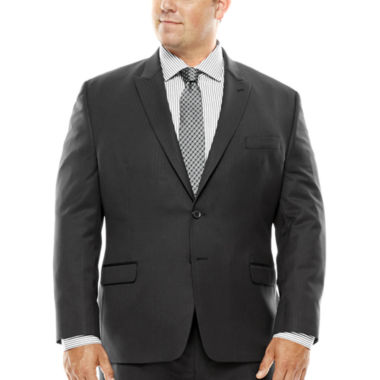 jcpenney.com | Collection by Michael Strahan Black Herringbone Suit Jacket - Big & Tall