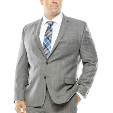 jcpenney.com | Collection by Michael Strahan Gray Windowpane Suit Jacket - Big & Tall