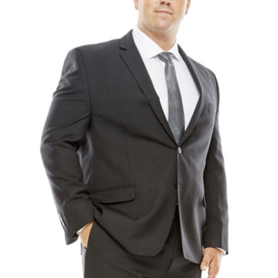 Collection by Michael Strahan Striped Black Suit Jacket - Big & Tall