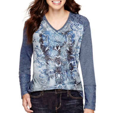jcpenney.com | Unity™ Long-Sleeve Mixed Media Sublimation Top