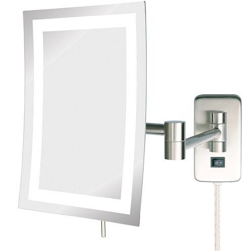 Jerdon Style LED-Lighted Rectangular Wall Mirror