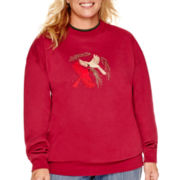 MCCC Sportswear Long-Sleeve Holiday Fleece Sweatshirt - Plus
