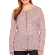 St. John's Bay® 3/4-Sleeve Knit Tunic Top - Plus