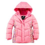 Vertical 9 Hooded Puffer Jacket - Preschool Girls 4-6x