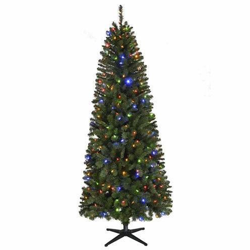 North Pole Trading Co. 7 1/2 Foot Ventura Pre-Lit Christmas Tree