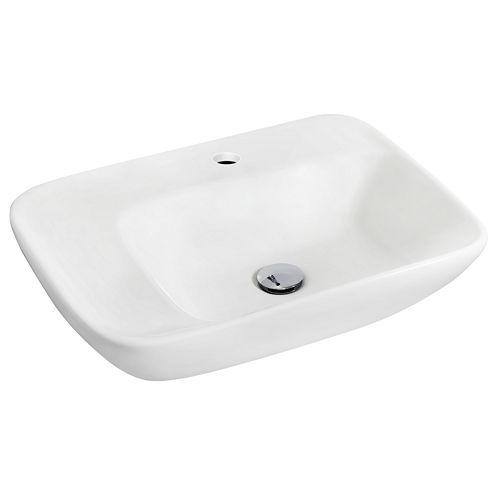 American Imaginations Ceramic Rectangular Vessel Sink