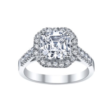 jcpenney.com | DiamonArt® Asscher-Cut Cubic Zirconia Sterling Silver Ring