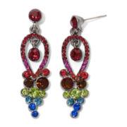 Rainbow Crystal Chandelier Earrings