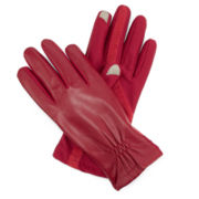 Isotoner® Stretch Leather Touchscreen Gloves