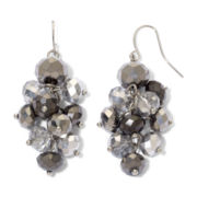 Hematite & Gray Bead Grapevine Earrings