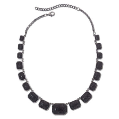 jcpenney.com | Mixit™ Hematite & Jet Black Square Collar Necklace
