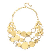 PALOMA & ELLIE Simulated Pearl 3-Row Necklace