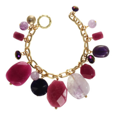 jcpenney.com | ROX by Alexa Pink & Purple Mixed Gemstone Bracelet